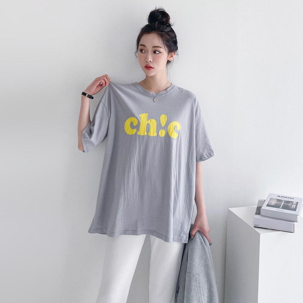 ppgirl-시크 박스 반팔티t H298♡韓國女裝上衣