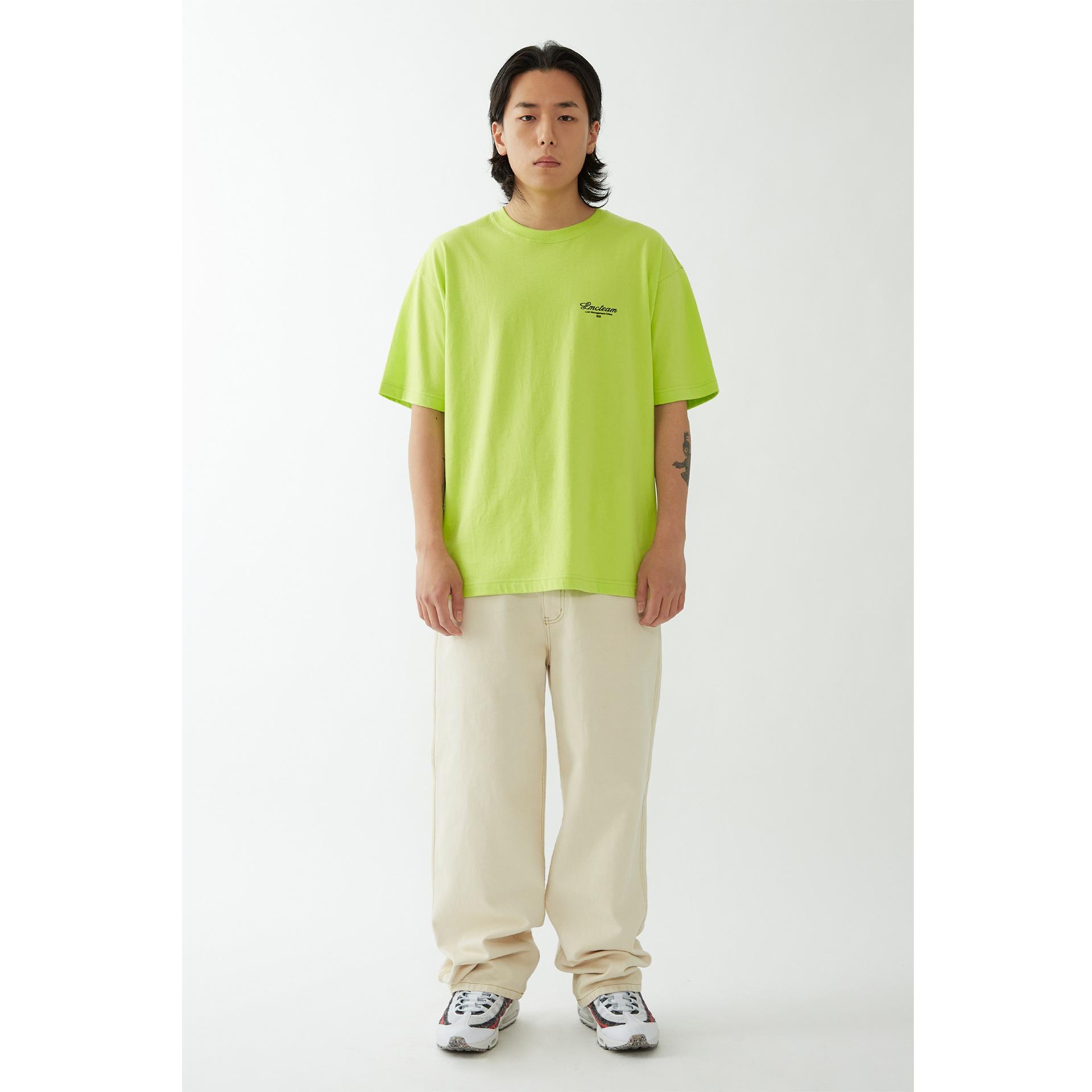 layer-LMC TEAM EARTH ORGANIC TEE light green♡韓國男裝上衣
