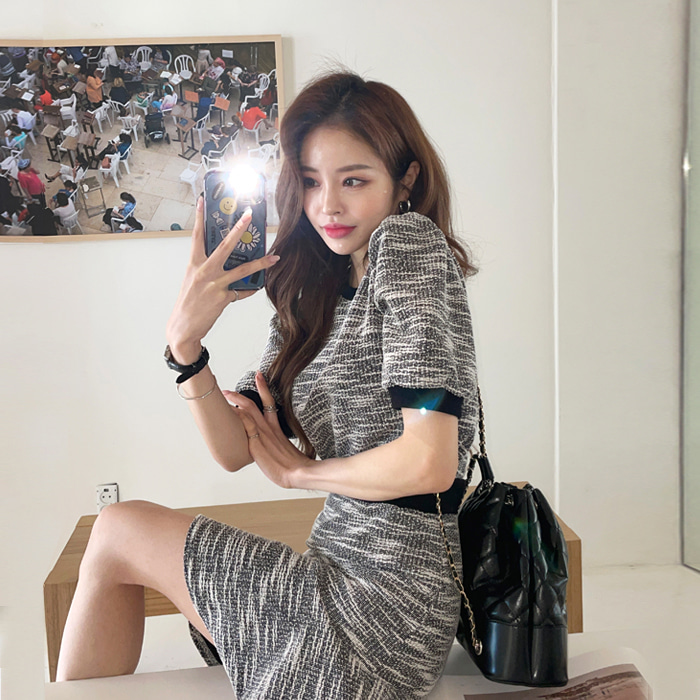 deepny-베니시트위드투피스SET♡韓國女裝套裝