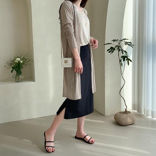 dodry-NC17592 바코드 롱 니트 가디건♡韓國女裝外套