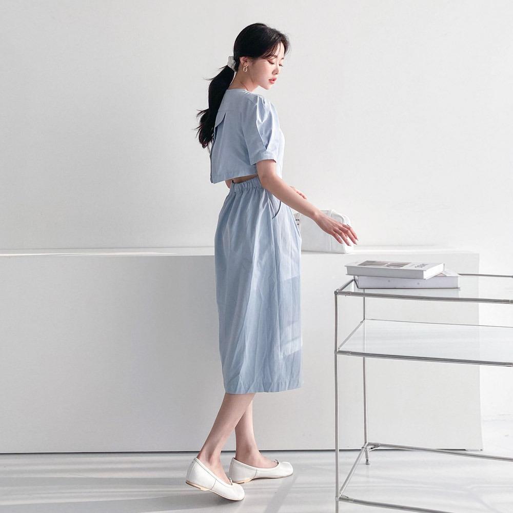 ppgirl-퍼프 뒷트임 원피스ops H300♡韓國女裝連身裙