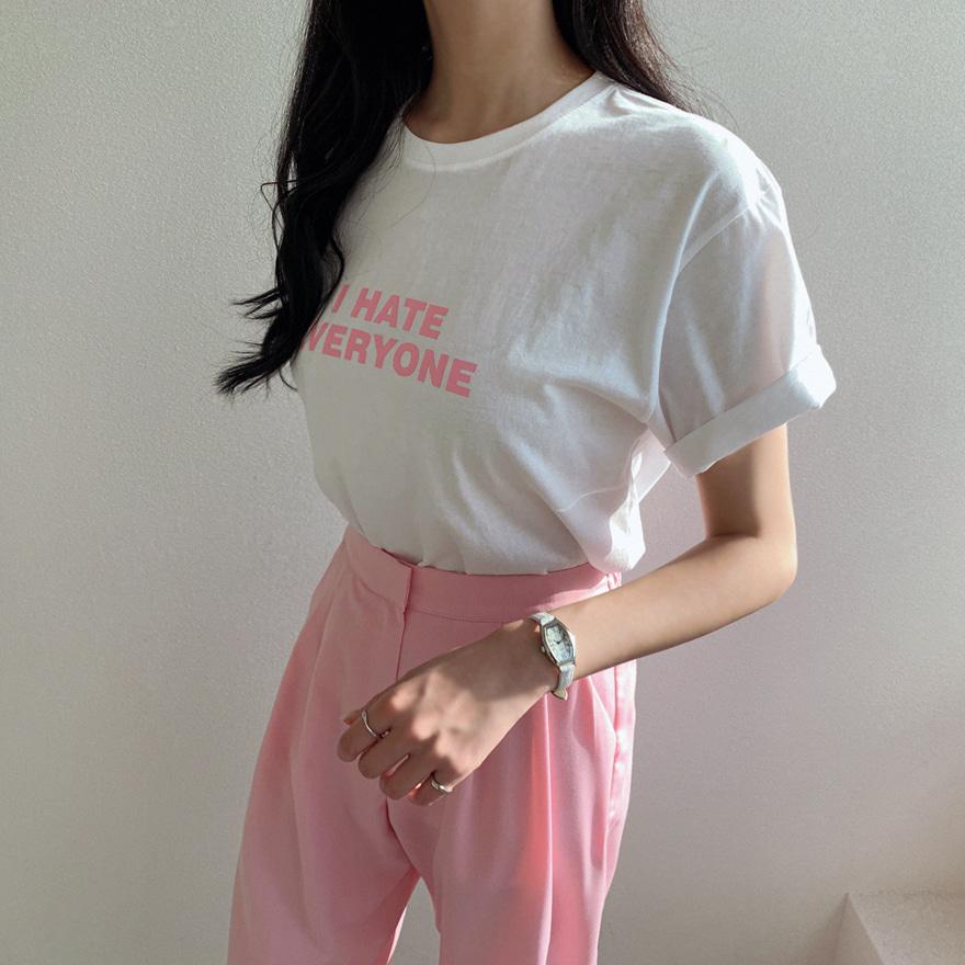 miamasvin-에브리원 라운드 티셔츠♡韓國女裝上衣