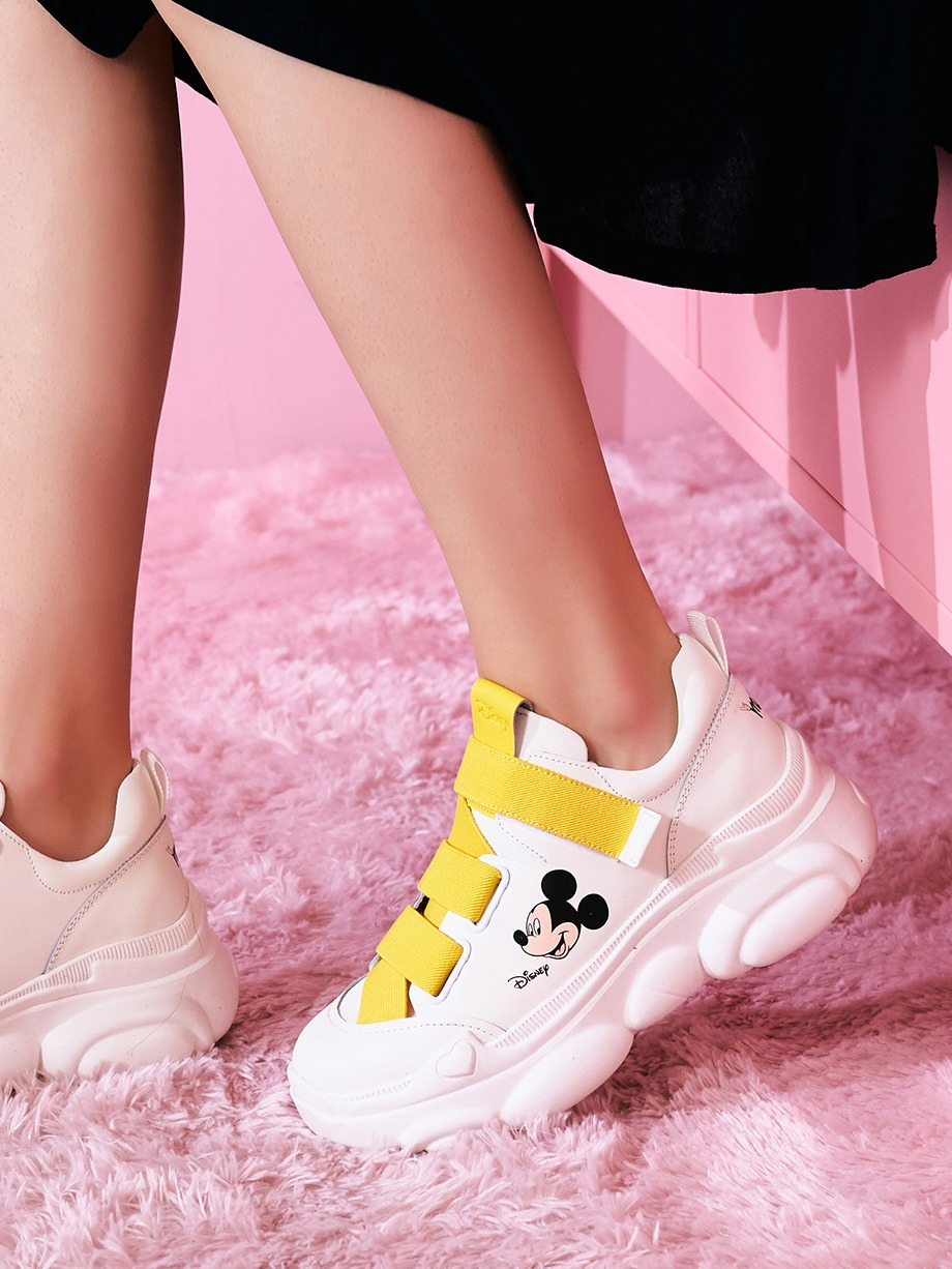 韓國 JINNY KIM Disney Mickey Bandy REAL LEATHER 波鞋
