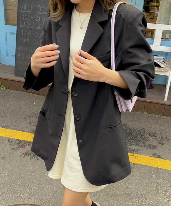 loveloveme-리메인 베이직 싱글자켓 | 럽미♡韓國女裝外套