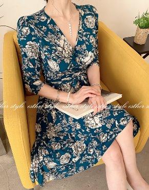 esther-st-샤롤플레어 원피스(봄신상)♥55~88size진행♡韓國女裝連身裙