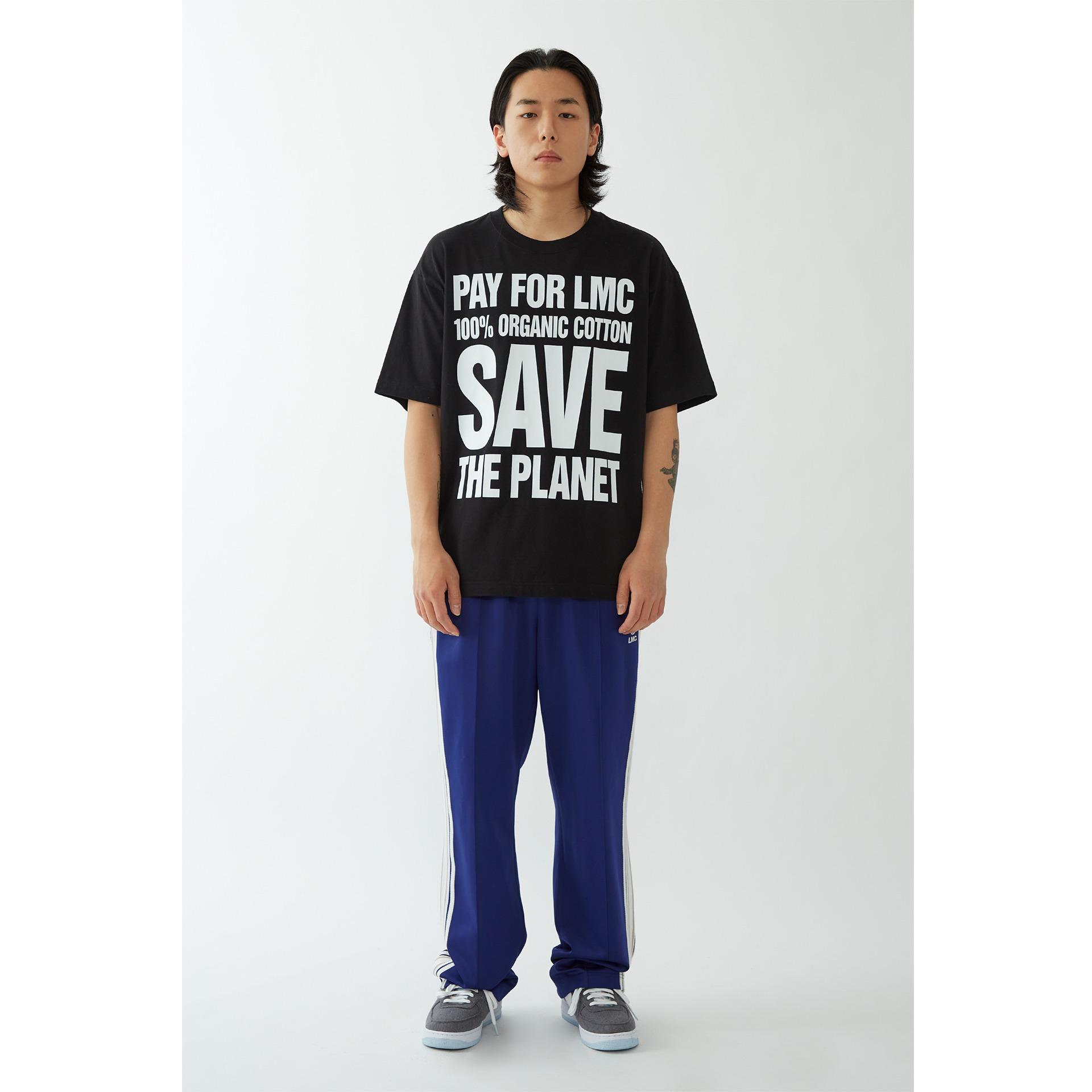 layer-LMC SAVE THE PLANET ORGANIC TEE black♡韓國男裝上衣
