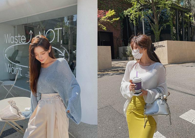 maybins-[당일발송]루디드 니트♡韓國女裝上衣