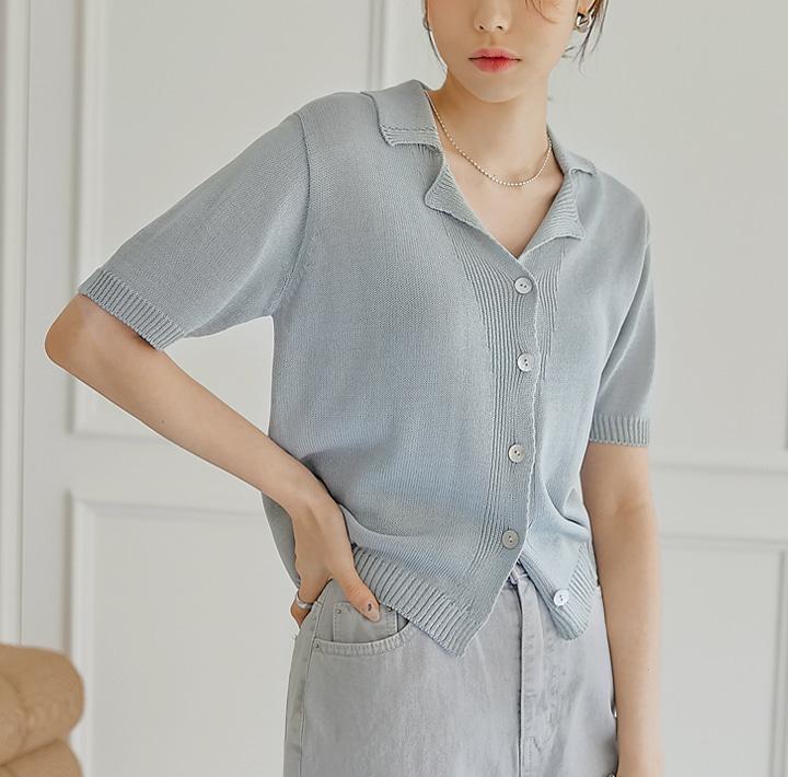 common-unique--루너스 카라 1/2 니트 가디건♡韓國女裝外套