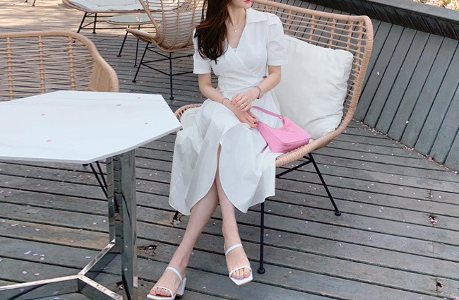 minsshop-마릴린 튤립 랩원피스♡韓國女裝連身裙