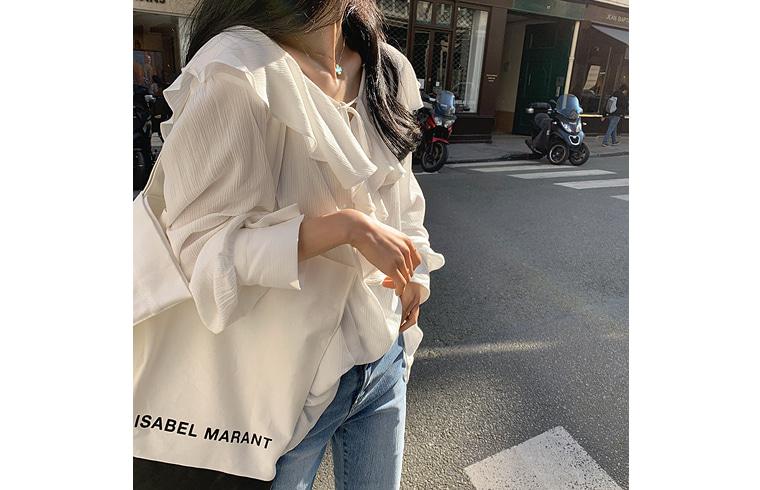 dailylook-[DAILY MADE] 이자벨프릴블랑♡韓國女裝上衣