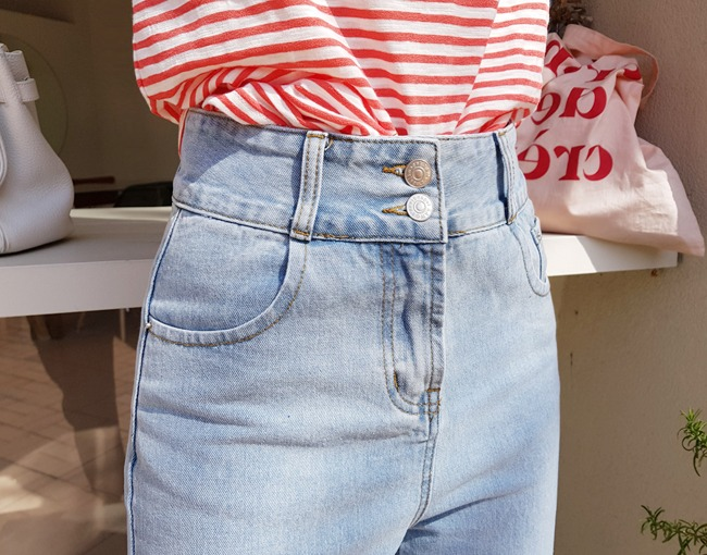 helloyoonsoo-튤립힙업 아이스블루 청바지♡韓國女裝褲