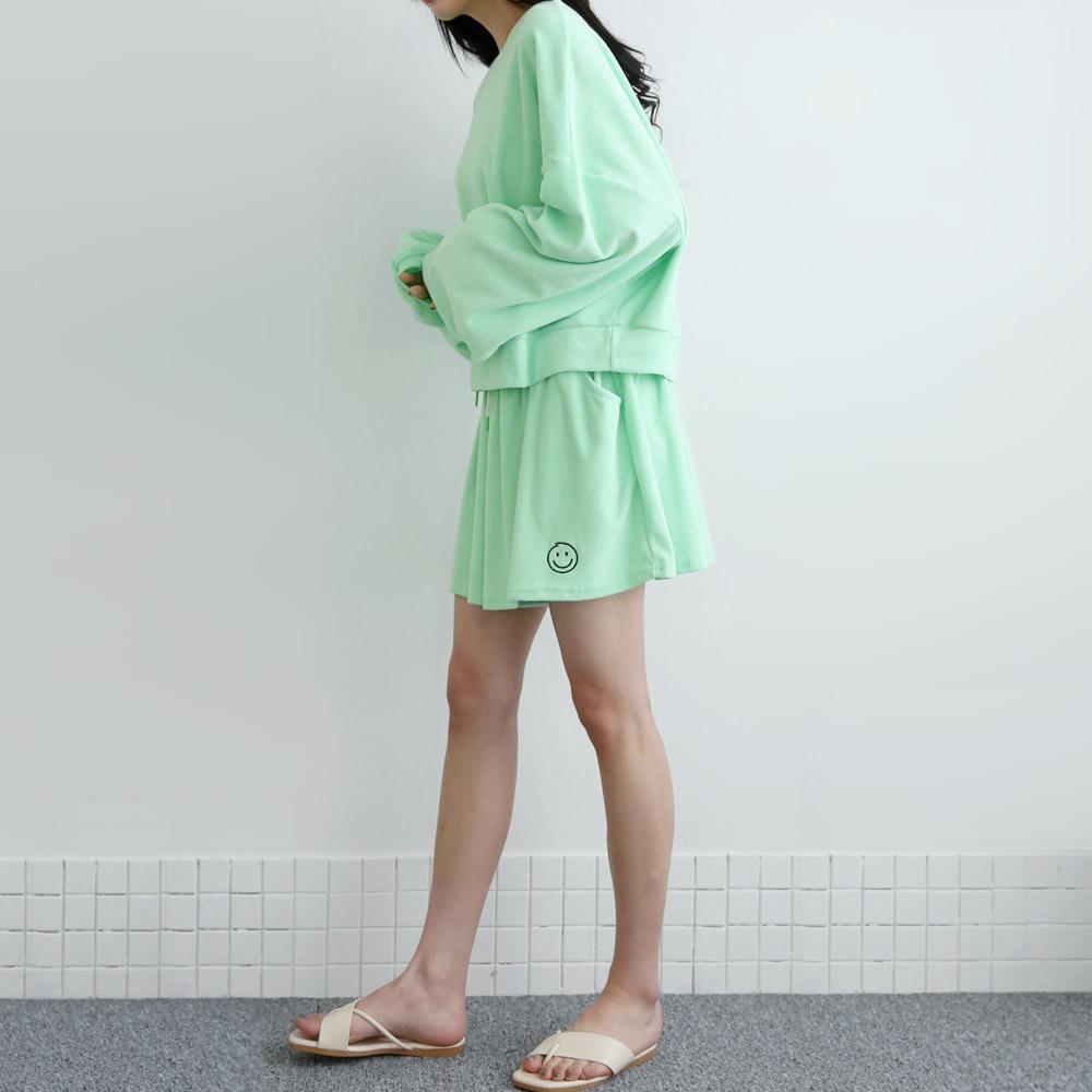 ppgirl-파스텔 반바지 맨투맨세트set H301♡韓國女裝套裝