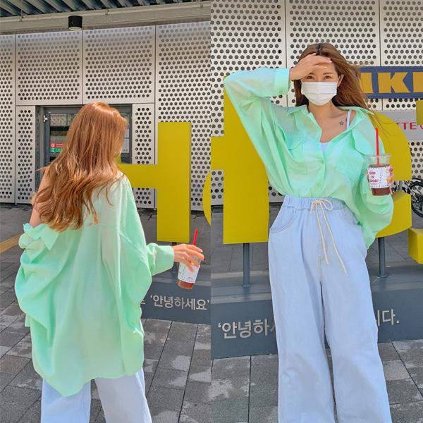 planj-탱고 루즈핏 셔츠♡韓國女裝上衣