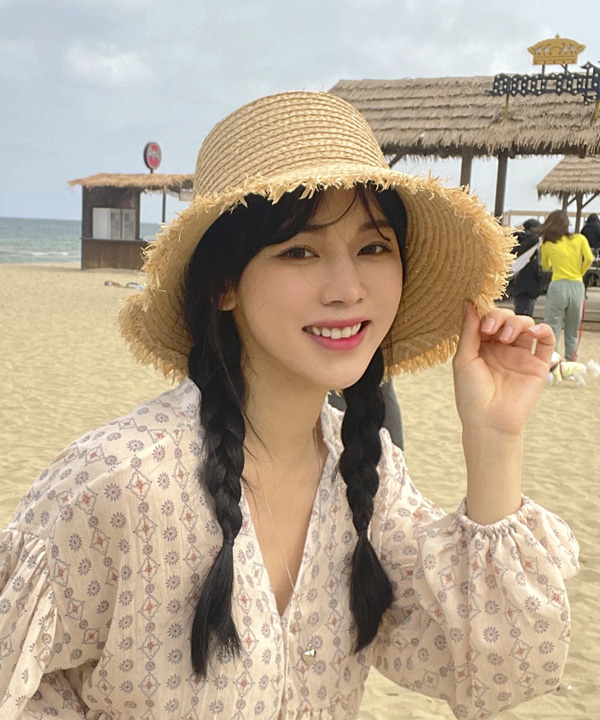 loveloveme-트레져 라피아플로피햇 | 럽미♡韓國女裝飾品