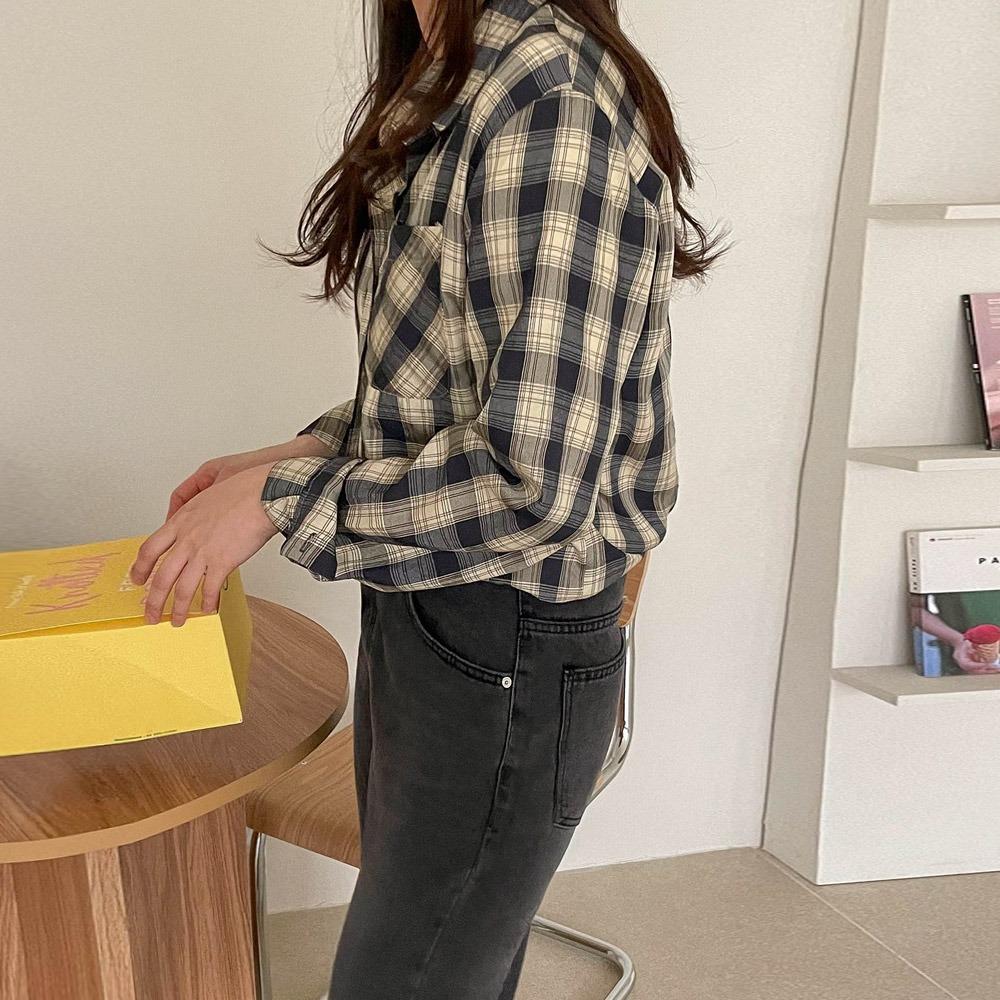ppgirl-봄 체크 남방nb H302♡韓國女裝上衣