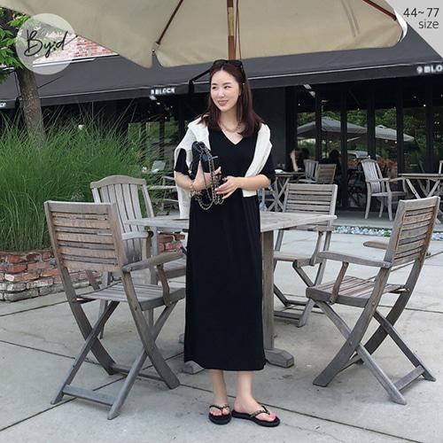dodry-by-D O20939 안 입은 듯 COOL) 양 V 원피스♡韓國女裝連身裙