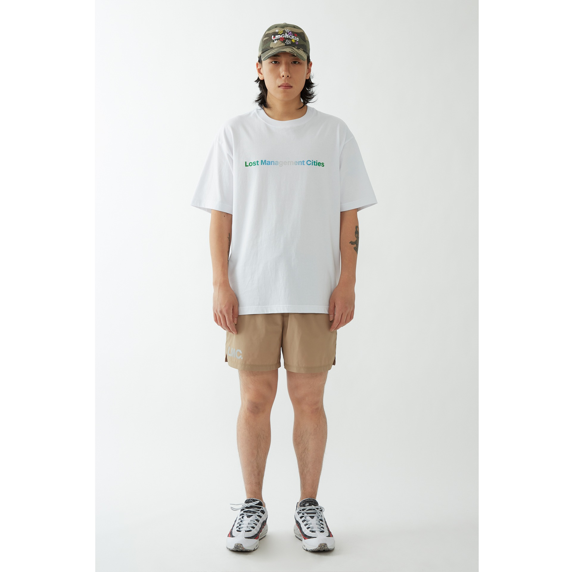 layer-LMC NATURE GRADIENT FN ORGANIC TEE white♡韓國男裝上衣