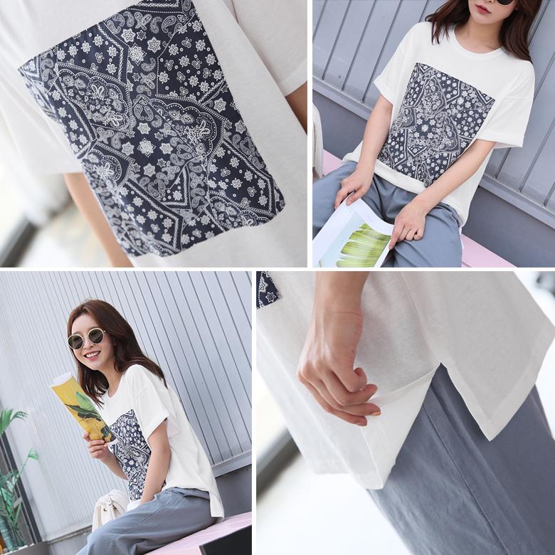 midasb-[파이린 페이즐리 티셔츠]♡韓國女裝上衣