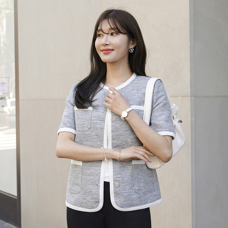 clicknfunny-르멀디 트위드자켓[S,M사이즈]♡韓國女裝外套