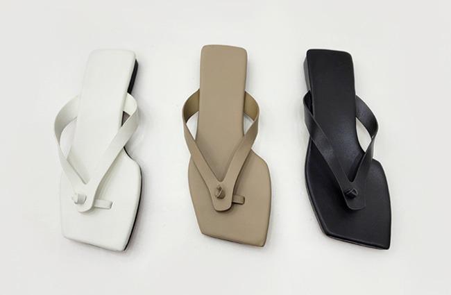 minsshop-2907 모던스퀘어 꼬임 쪼리♡韓國女裝鞋