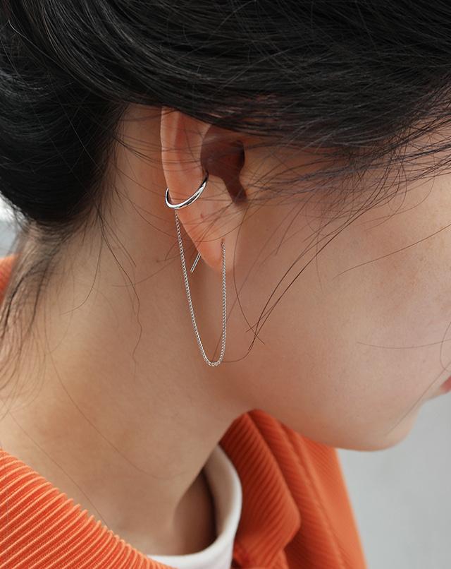 dreseoul-[E446] ear cuff drop earring - DRE♡韓國女裝飾品