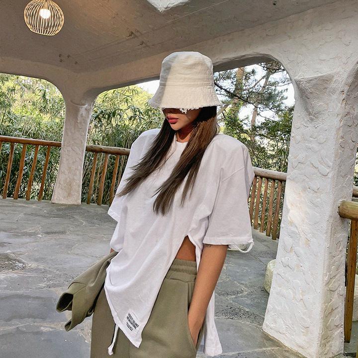 lagirl-원슬릿데미지반팔티-t♡韓國女裝上衣