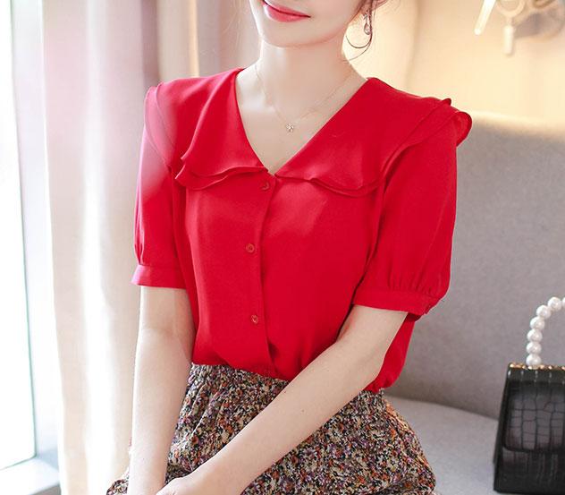myfiona-꽃잎으로 블라우스 m8726 - 러블리 로맨틱 1위 쇼핑몰 피오나♡韓國女裝上衣