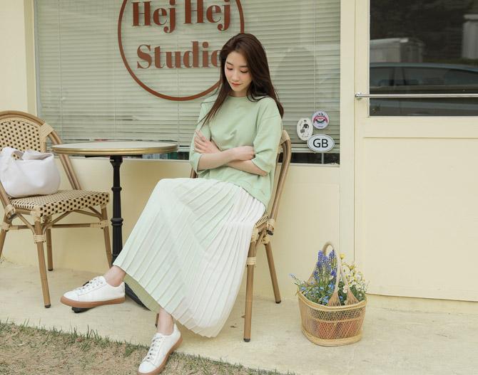 chichera-세련된 그녀들의 선택, 시크헤라[플리츠맨투맨롱원피스]♡韓國女裝連身裙