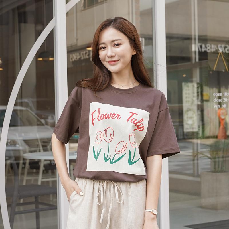clicknfunny-튜린 프린팅티셔츠♡韓國女裝上衣