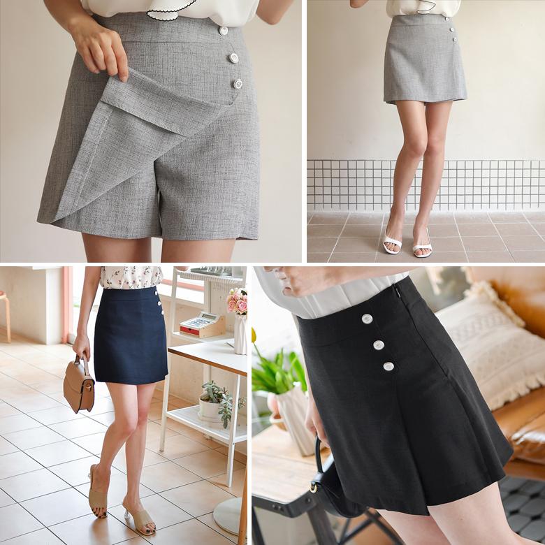 midasb-[마니 단추 치마바지]♡韓國女裝褲