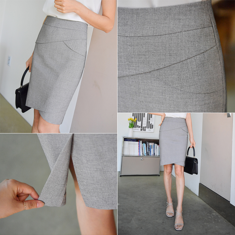midasb-[에트 튤립 H라인 스커트]♡韓國女裝裙