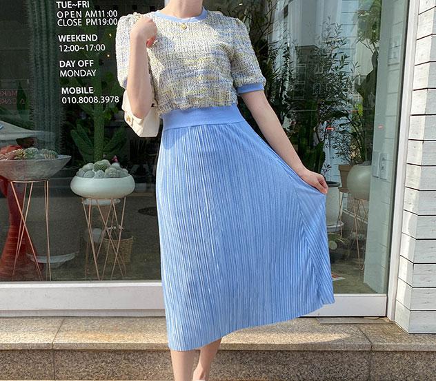 myfiona-슬러시플리츠 원피스a0344 - 러블리 로맨틱 1위 쇼핑몰 피오나♡韓國女裝連身裙