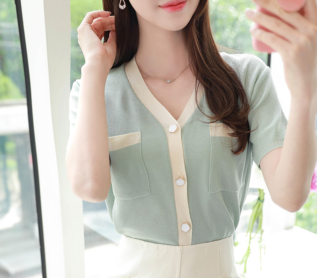 myfiona-배색파운드 가디건 a0255 - 러블리 로맨틱 1위 쇼핑몰 피오나♡韓國女裝外套