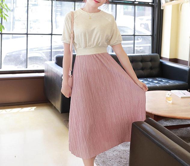 myfiona-샤이닝플리츠 원피스 a0322 - 러블리 로맨틱 1위 쇼핑몰 피오나♡韓國女裝連身裙