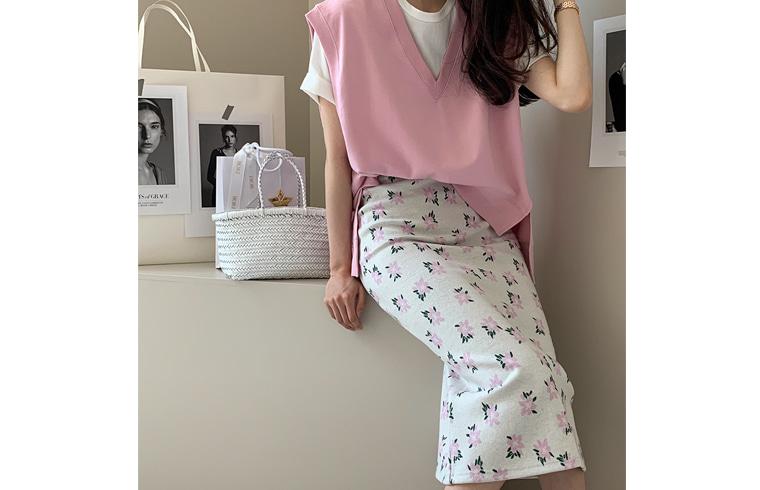 dailylook-핑크플라스커트♡韓國女裝裙