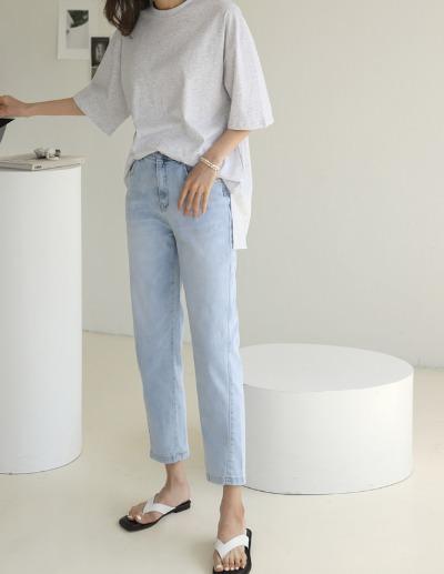 indibrand-찰린 데님 팬츠 (ver. SUMMER)♡韓國女裝褲