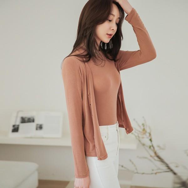 ode-[하이 텐션 소프트 브이넥 가디건]♡韓國女裝外套