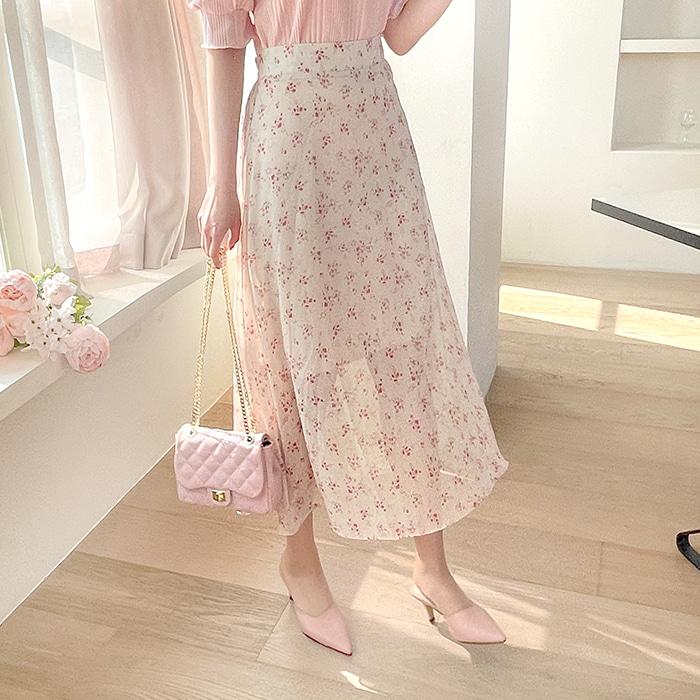 myfiona-꽃지 플라워 롱스커트 a1469 - 러블리 로맨틱 1위 쇼핑몰 피오나♡韓國女裝裙