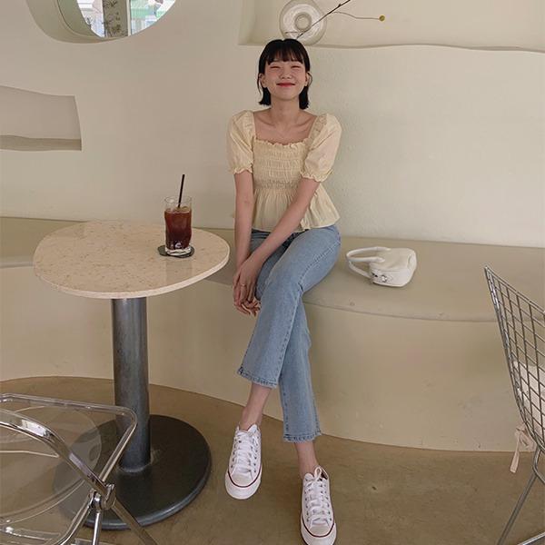 906studio-초이스 세미부츠컷데님팬츠♡韓國女裝褲