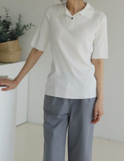 indibrand-레체 카라 니트 (수입)♡韓國女裝上衣