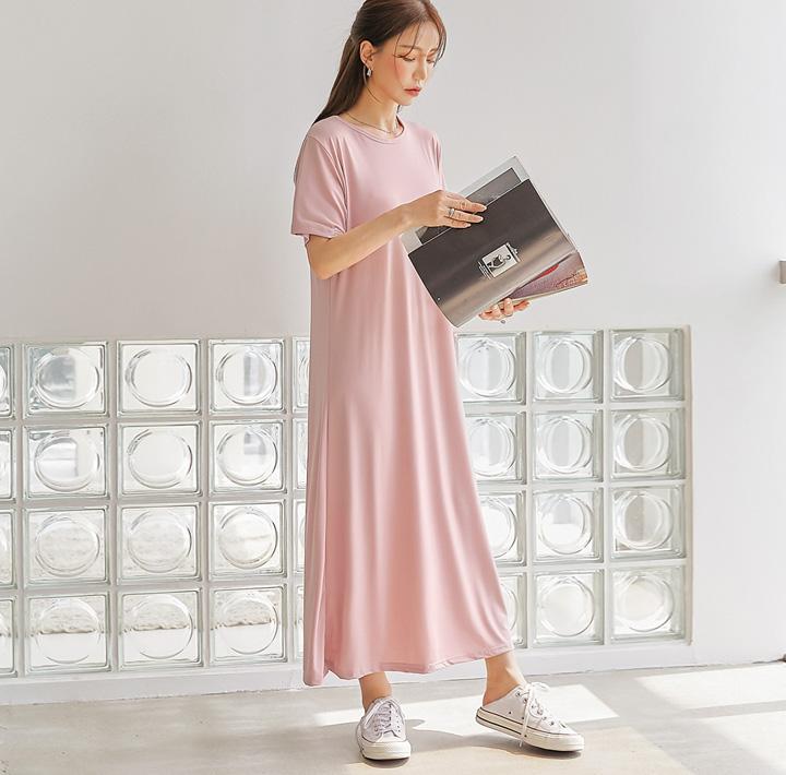 common-unique--오라벤 스트랩 라운드 롱 원피스♡韓國女裝連身裙
