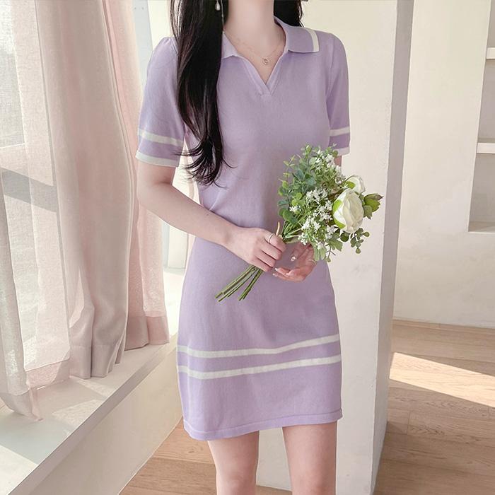 myfiona-러디 카라트임넥 니트 원피스 a1471 - 러블리 로맨틱 1위 쇼핑몰 피오나♡韓國女裝連身裙