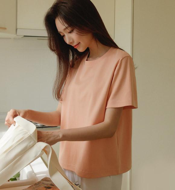 justone-부크 하이퀄리티 실켓 반팔티♡韓國女裝上衣