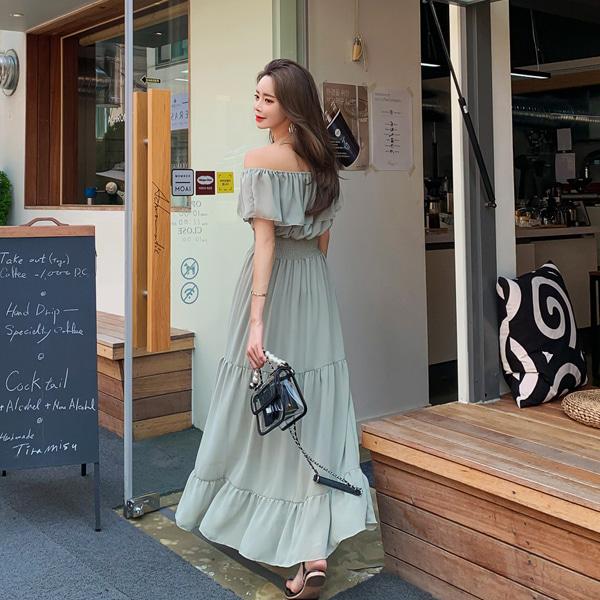 babinpumkin-귀를기울이면 롱 원피스♡韓國女裝連身裙