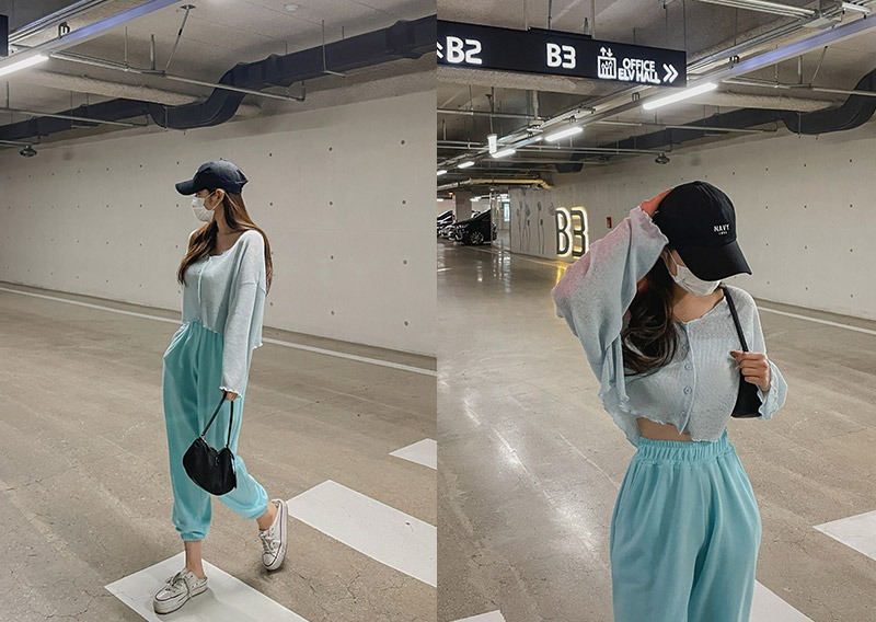 maybins-[당일발송]에룬 가디건&조거 팬츠set♡韓國女裝套裝