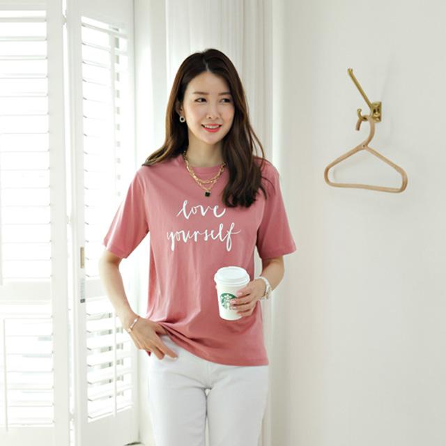 tiramisu-6931러브실켓반팔티♡韓國女裝上衣