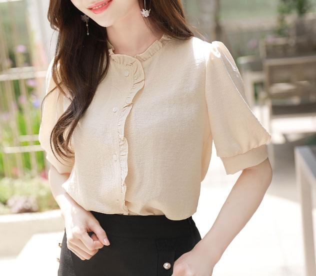 myfiona-레이스라인 블라우스 m8253 - 러블리 로맨틱 1위 쇼핑몰 피오나♡韓國女裝上衣