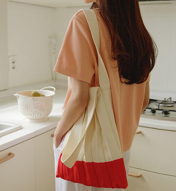 justone-렌티 플리츠 니트백♡韓國女裝袋