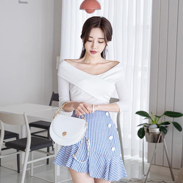 babinpumkin-베프가될 오프숄더 티셔츠♡韓國女裝上衣