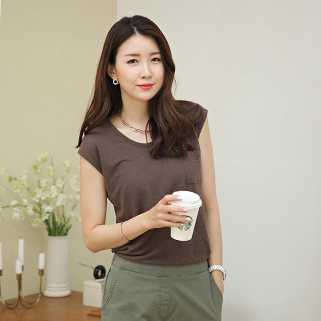 tiramisu-0452블리포켓린넨캡나시티♡韓國女裝上衣
